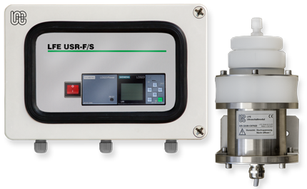 Sample filter system with ultrasonic filter element cleaning for Online water analyzer – USR-F