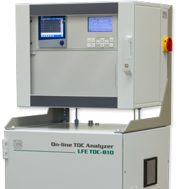 "Online TOC Analyzer for total organic carbon measurement in process water using 2-section 19"" cabinet – TOC-810"