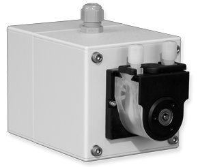 Peristaltic pump for liquid analytical with µp controlled stepper motor for condensate or sample & back-flushing or dilution – Series 54 peristaltic pump